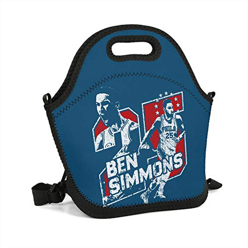 Special Basketball Theme Lunch Box Fashionable Tote Container Basic Cooler Thermos School Lunch Bag Personalized Cold Sports Padded ()