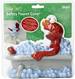 Sesame Street Spout Cover - Elmo Theme - 100% Safe Vinyl, BPA Free - Fits Over Most Spouts - Cushioned Protection - Easy Flow - For Travel or Home Use