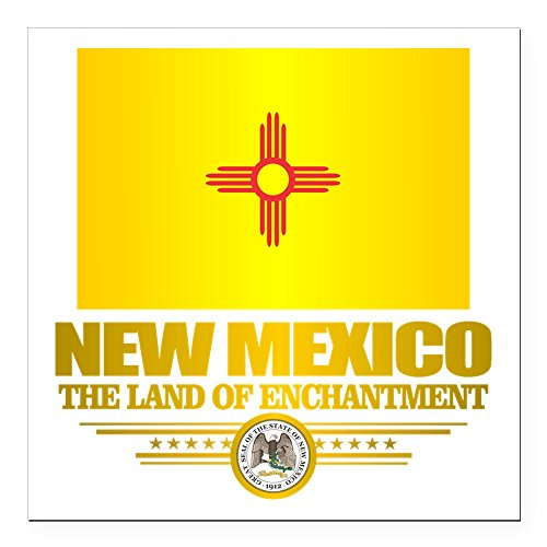 (CafePress - New Mexico Flag Square Car Magnet 3