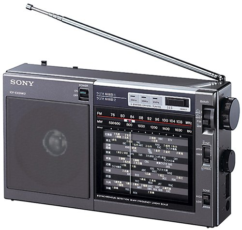 (SONY Portable Radio ICF-EX5MK2 FM AM Nikkei Analog Tunning)
