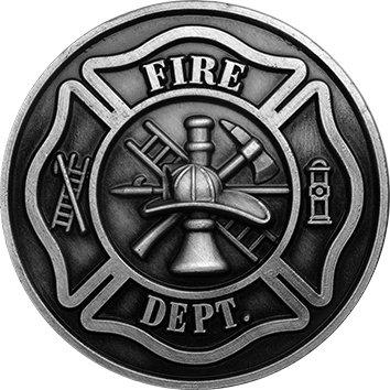 amazon com fireman premium metal car truck auto vehicle crest mini