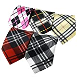 Ukerdo 5 pc Stripe Boys Tie Kids Mixed Neckties Set School Wedding Party Pre-Tied (A)