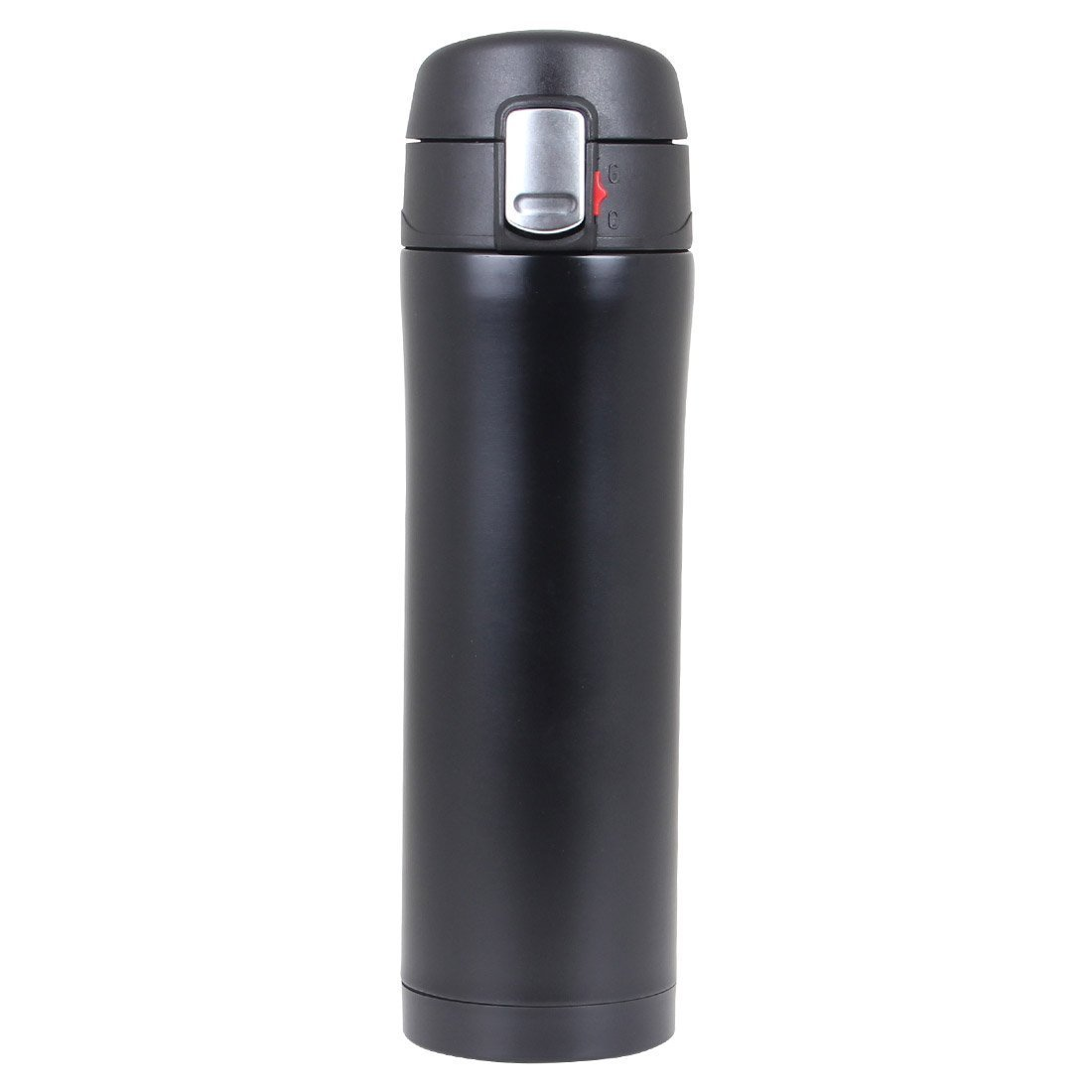Water Bottles Stainless Steel Double Wall Vacuum Insulated Flask Leak Proof Sports Running Travel Mugs Beverages Hot Cold Retention (Black)