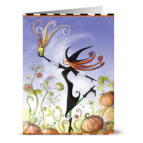 24 Note Cards - Witchy Cup O Brew - Blank Cards - Kraft Envelopes Included