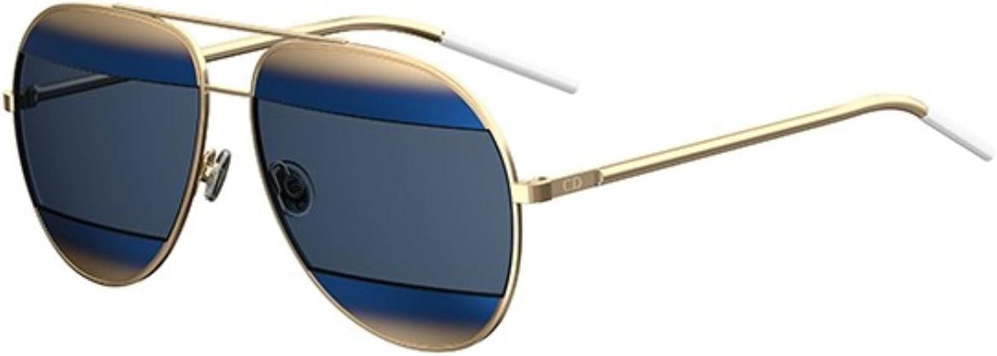 6f3c08c32cfc Amazon.com  Authentic Christian Dior SPLIT 1 2JY KU Gold Sunglasses ...