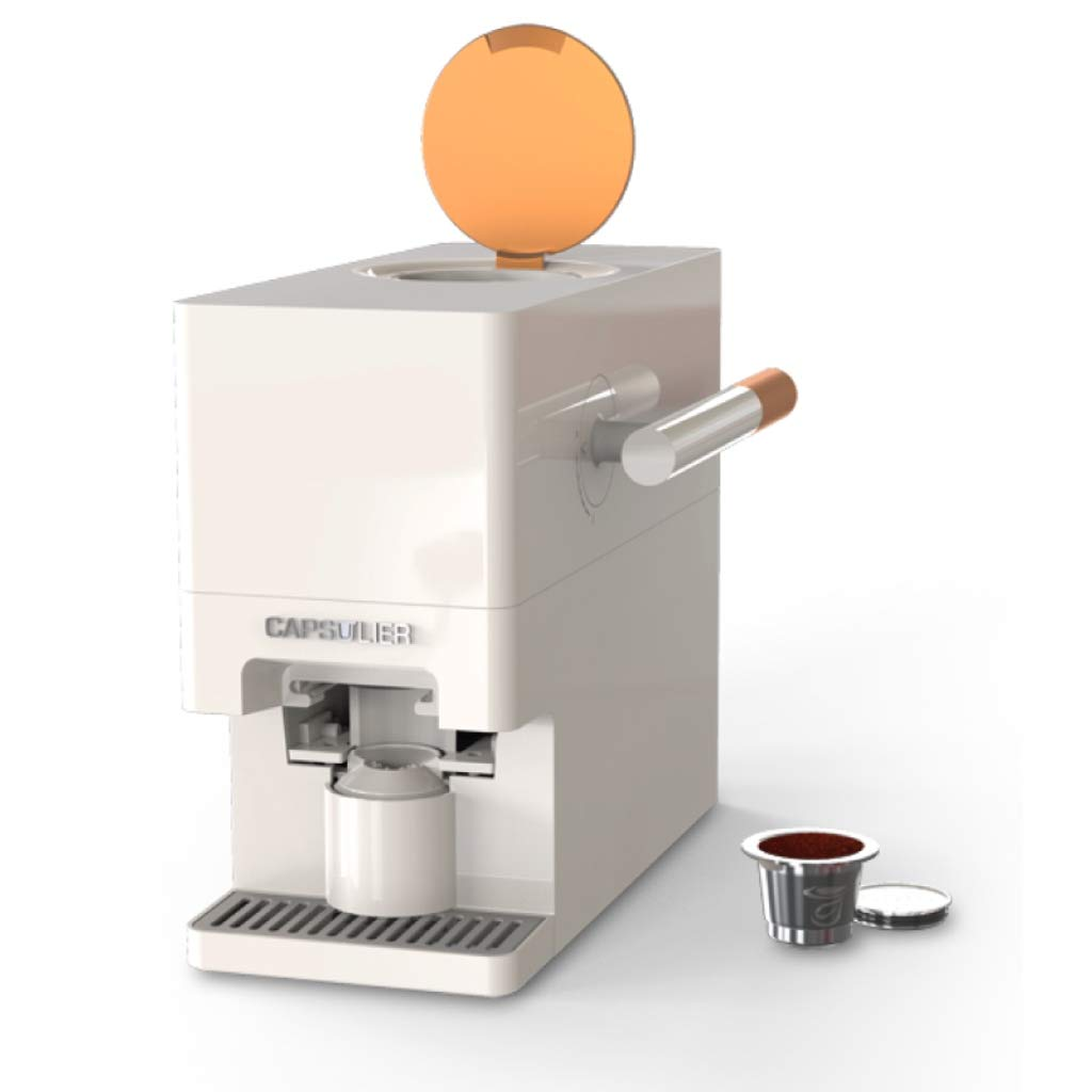 Capsulier LITE Mess-Free Reusable Single Serve Custom-Blend Capsule Maker Coffee Brewer with reusable Capsi Caspule