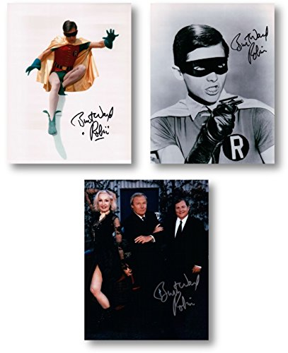 "Burt Ward Signed Autographed 8X10 Three Photo Lot Batman""Robin"" Inscribed COAs"