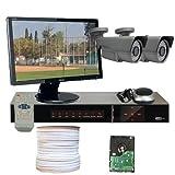 GW Security VD2CHH2 4 CH HD-SDI DVR 2 x HD-SDI 1/3-Inch 2.1 Megapixel CMOS Camera, 1080P 2.8 to 12 mm Lens, 72-IR LED, 196-Feet IR Distance