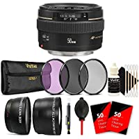 Canon EF 50mm f/1.4 USM Standard Lens for Canon SLR Cameras - Fixed Lens and Accessory Bundle