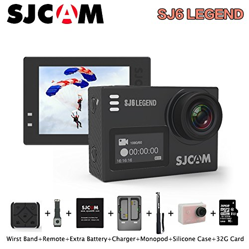 SJCAM SJ6 Legend Sports Action Camera Remote Action Helmet Sports DV Camera Waterproof 4K 1080P 24FPS Action Camera Camcorder (Rose Gold) by SJCAM