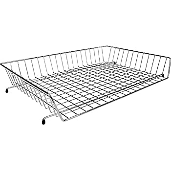 Remarkable 11X17 Wire Basket Desk Tray Chrome Download Free Architecture Designs Griteanizatbritishbridgeorg