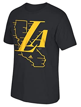 "Los Angeles Lakers Adidas NBA ""Legacy Fade Men s Short Sleeve –"
