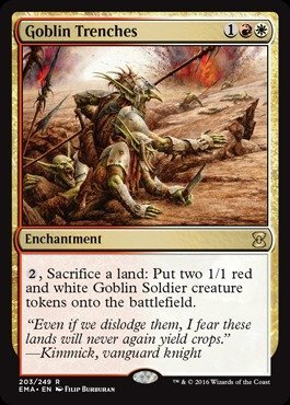 Magic: the Gathering - Goblin Trenches (203/249) - Eternal Masters - Foil