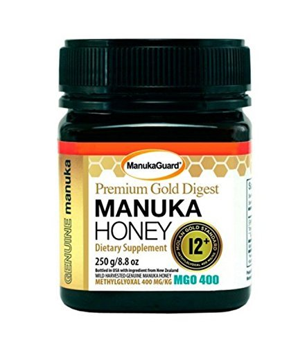 Manukaguard Premium Gold Digest Manuka Honey 12+ MGO 400, 8.8 Ounce