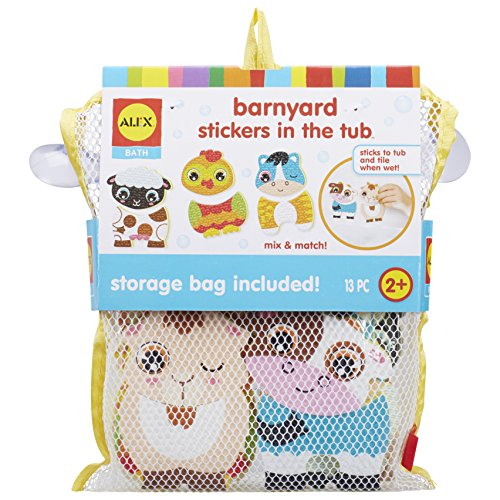 ALEX Bath Barnyard Stickers in The Tub, Multi