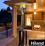 Hammered Antique Bronze Patio Heater with Adjustable Table