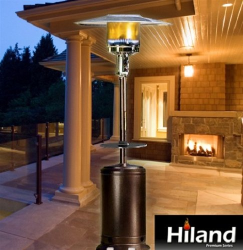 Hammered Antique Bronze Patio Heater with Adjustable Table - Antique Bronze Patio Heater