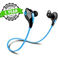 Kingsford Jogger Wireless Bluetooth Headset Earphones with Handsfree Calling Support, Stereo Sound, Sweat Proof, Jogging, Running, Sport Earbuds with Mic for Redmi, iPhone and Other Smartphones