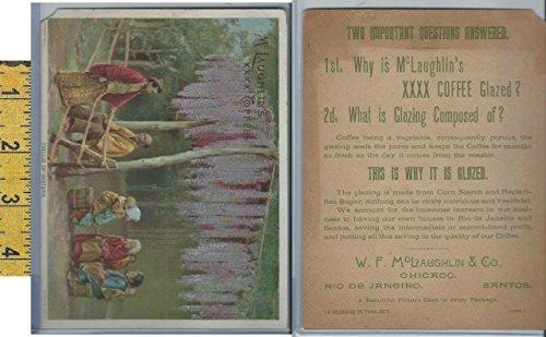Victorian Trellis (Victorian Card, 1890's, McLaughlin Coffee, Trellis of Wistaria)
