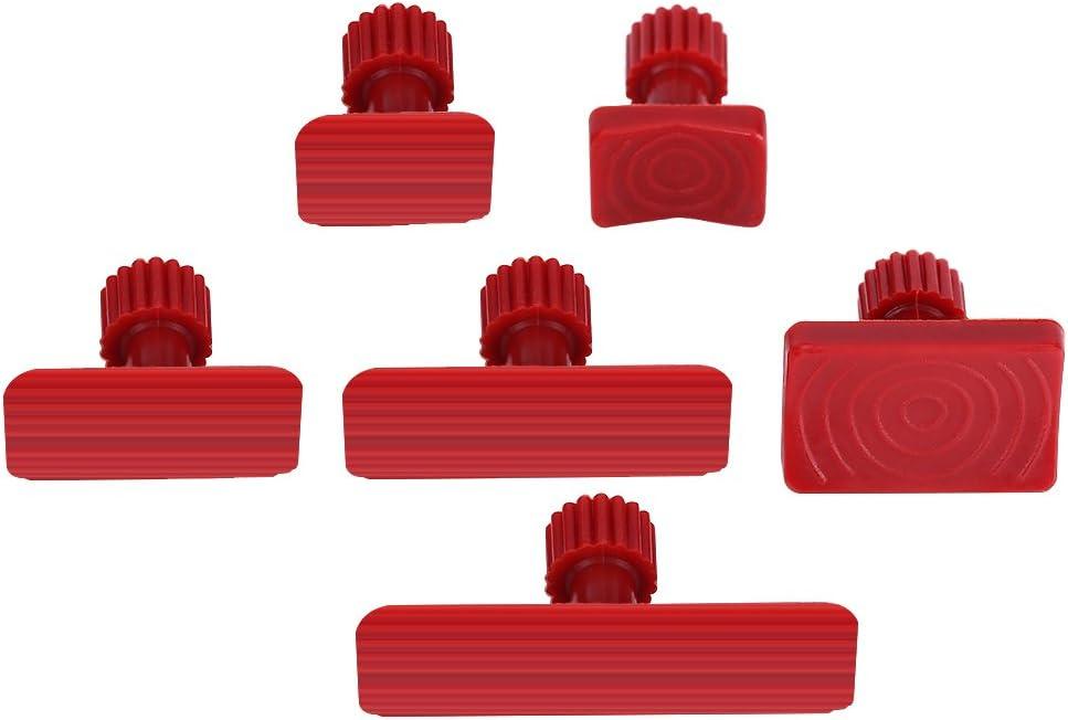 Cuque Dent Repair Tool 10 Pcs Repair Tools Paintless Dent Auto Car Body Repair Tool Kit Nylon Glue Puller Tabs Removal Tool Red Auto Car Dent Repair Removal Puller Tool Kit Removal Repair Tool