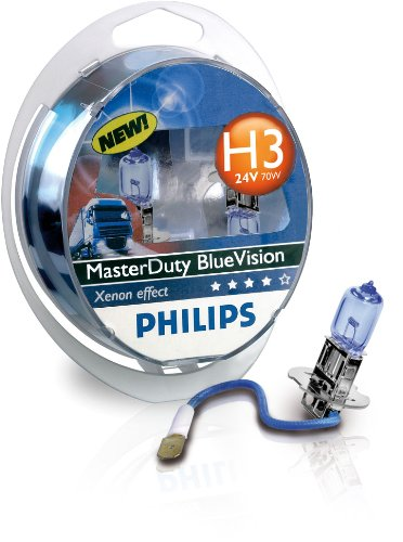 Philips Ampoule de phare MasterDuty BlueVision H3 24 V 13336MDBVS2 856985