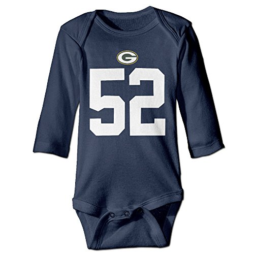 Boxer98 Boy's & Girl's Clay Matthews #52 Green Bay Long Sleeve Bodysuit (Katy Perry Outfits For Kids)