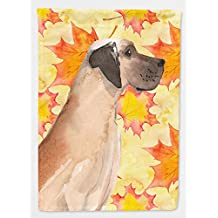 Caroline's Treasures BB9524CHF Fawn Natural Great Dane Fall Flag Canvas House Size , Large, multicolor