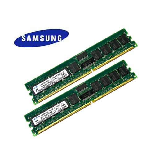 (SAMSUNG ORIGINAL 2GB Kit (2 x 1GB) DDR-400 PC3200 ECC Registered Memory for)