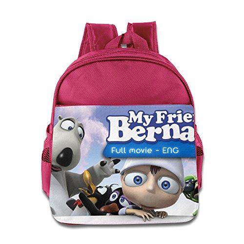 My Friend Bernard Kids School Backpack Bag Pink