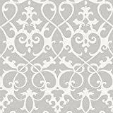 NuWallpaper NU1699 Ironwork Grey Peel & Stick Wallpaper