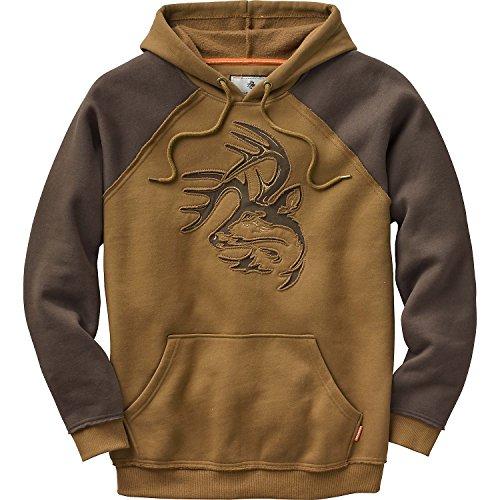 Deer Hoodie (Legendary Whitetails Mens Vintage Deer Camp Hoodie Barley Large)