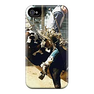 Durable Hard Phone Cases For iphone 5s (EZj11307jChd) Support Personal Customs Lifelike Bull Riding Skin