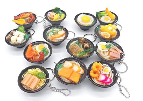 ~ANY 5~2 INCH Cute Udon Ramen Noodle Soup Bowl Charm Key Chain ~ANY RANDOMLY SELECTED 5~