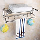Bathroom towel rack, bathroom pendant, 304 stainless steel bath towel rack, bathroom hardware, kitchen and toilet pendant, toilet rack,60cm???