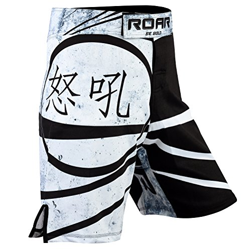 Roar Boxing Mixed Martial Arts MMA Cage Fighting Shorts BJJ Grappling No Gi Wear (Ninja, Large)