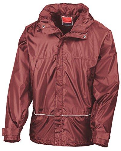 Result impermeable entrenador jacket-r155X granate