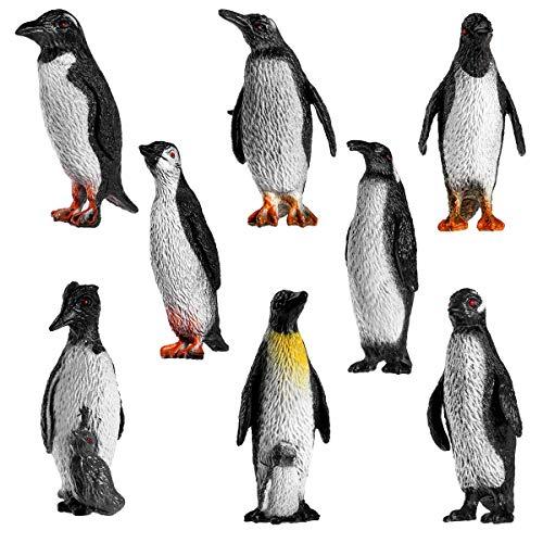 8pcs Penguin Collection Plastic Ocean Animal Penguin Figure Model for Children and Babies