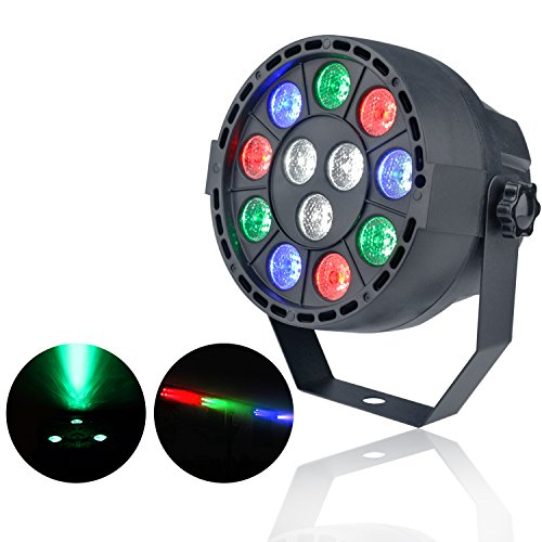 ZjRight stage lighting LED Par Lights with 12 LED RGBW by IR Remote and DMX Control for party Lighting (Rl Halloween Mix)