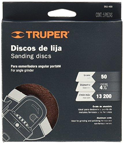 TRUPER DILI-450 Sandpaper 4-1 / 2 with fiber backing, 50 grit, 5 pcs: Amazon.com: Industrial & Scientific