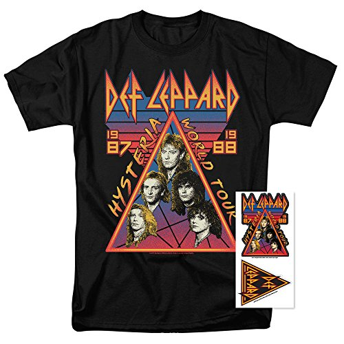 (Def Leppard Hysteria Tour 80s Rock Music T Shirt (XXXX-Large))