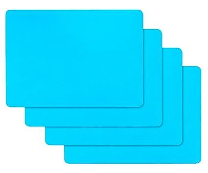 silicone per stampi  Fogli in Silicone per stampi in Resina, 4 Pezzi Foglio in Silicone ...