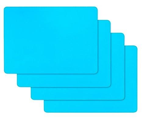 Vidillo Láminas de Silicona para moldes de Resina, 4 Piezas Lámina de Silicona Flexible Grande