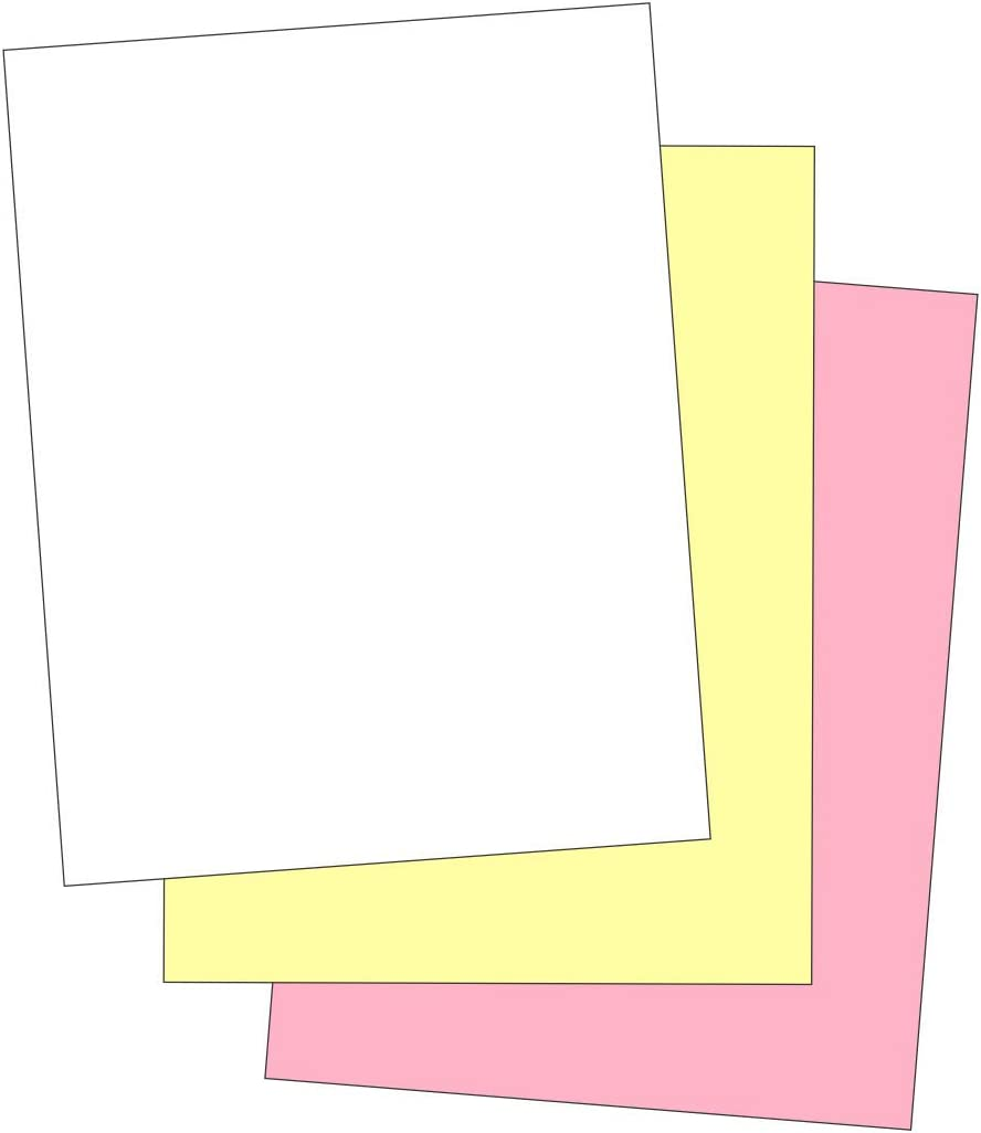 """""""Plain"""" Collated Color Paper (Not Carbonless) for Laser and Ink Jet Printers (Pack of 500 Sheets 3 Part) : Office Products"""