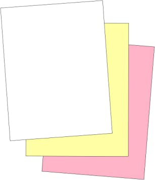 501 Sheets - 3 Part 3 Part Legal Size Straight Collated Carbonless Paper 167 Sets NCR Paper