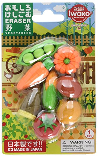 (Iwako Japanese Vegetable Eraser Set)