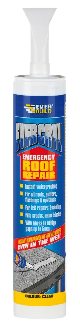 Evercryl Emergency Roof Repair - Flexible membrane for instant roof repair - 300ml - Clear Toolbank EVCCLCART-EBD