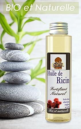 Aceite de Ricino 100% Orgánico y Natural - el crecimiento y la fuerza del cabello - 100ml