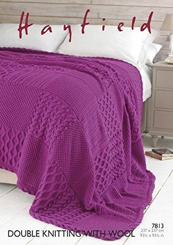Sirdar/Hayfield DK with Wool 100g Knitting Pattern - 7813 Bed Throw by Sirdar/Hayfield by Sirdar/Hayfield