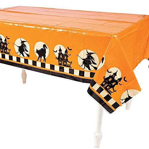 Fun Express Plastic Halloween Party Table Cover 54