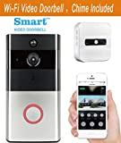 Wireless Video Doorbell Wi-Fi Enabled, Smart Home Door Bell 720P HD WiFi Security Camera With Motion Detection, Real-Time Two-Way Video Intercom, Night Vision (Supports SD Card) (With Chime)
